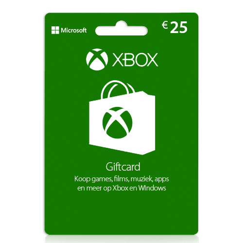 25 euro Xbox gift card | Xbox cadeaukaart | Xbox tegoed | NL - EU