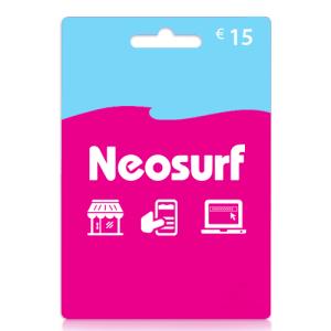 15 euro Neosurf card tegoed