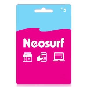 5 euro Neosurf card tegoed