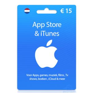 iTunes kaart 15 euro - 10 euro apple giftcard